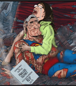 Death, Justice, and Propaganda: JUSTICE  MUELLER  REPORT  RIP  DEPARTMENT  No COLLEUSIN NO CESTRUCTION  2019 The Death of Mueller:A hit that's coming to your local propaganda store near you.