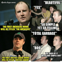 """Can everyone please just shut the fuck up about this. ~Green Arrow: justics lague momes  """"BEAUTIFUL  YES""""  """"SOSIMPLIE  THE FIRST AVENGERS MOVIET  WILL BETITLED THE AVENGERS  ILLBETLED THE AVENGERS ET SOTElLING  YET SOTELLING  TOTAL GARBAGE""""  """"B00%  DC BACKT IT  WITHTHAT SIMPLE SHIT""""  THE FIRST JUSTICE LEAGUE MOVIE  WILL BETITLED """"JUSTICE LEAGUE Can everyone please just shut the fuck up about this. ~Green Arrow"""