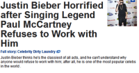 Gif, Justin Bieber, and Laundry: Justin Bieber Horrified  after Singing Legend  Refuses to Work with  Him  Full story: Celebrity Dirty Laundry  Justin Bieber thinks he's the classiest of all acts, and he cant understand why  anyone would refuse to work with him; after all he is one of the most popular celebs  in the world vir-magi-jack-frost:  sadisticmagidan:  jim-the-lizard-king:  too-stoned-to-remember:    *likes,saves to computer,reblog,bookmarks*    Hahahahahahahahahahahahaha!