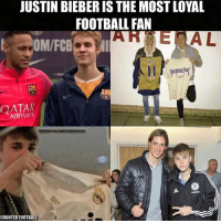 Emoji, Iphone, and Justin Bieber: JUSTIN BIEBER IS THE MOST LOYAL  FOOTBALL FAN  EOM/FCB  AIRWAYS  COUNTER FOOTBALL Zlatan Approves.. 😉😂 🔺FREE iPhone football emojis, link in our bio 🔥