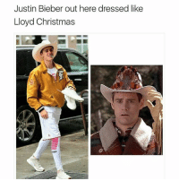 Justin Bieber out here dressed like  Lloyd Christmas