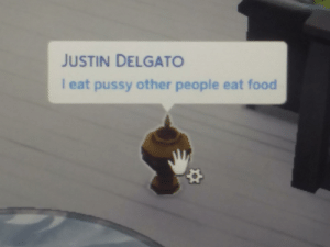 Food, Pussy, and Rip: JUSTIN DELGATO  I eat pussy other people eat food RIP Justin