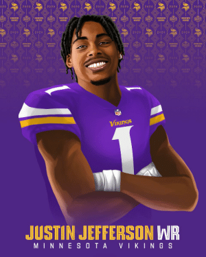 Justin Jefferson, Welcome to the @Vikings! 🙌   📺: 2020 #NFLDraft on NFLN/ESPN/ABC 📱: https://t.co/G7fI4L8MxF https://t.co/bMAUl3afOX: Justin Jefferson, Welcome to the @Vikings! 🙌   📺: 2020 #NFLDraft on NFLN/ESPN/ABC 📱: https://t.co/G7fI4L8MxF https://t.co/bMAUl3afOX