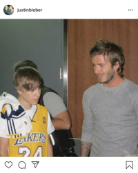 David Beckham, Only One, and Am I the Only One: justinbieber