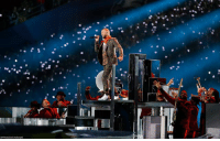 Memes, Superbowl, and 🤖: @justintimberlake performed during the SuperBowl halftime show. What did you think of the performance?