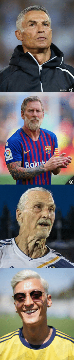 Özil is rocking this #faceapp thing https://t.co/KGKRnoU7GK: JUUENTIR   FCB  Laliga  Rakut  4 Özil is rocking this #faceapp thing https://t.co/KGKRnoU7GK