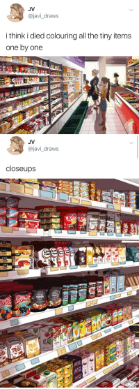 odinsblog: Wow. Talk about attention to detail. Video here: https://twitter.com/javi_draws/status/965260617790738432?s=21 : JV  @javi_draws  i think i died colouring all the tiny items  one by one   JV  @javi_draws  closeups   CAT zeru  cocomocon  GOCO odinsblog: Wow. Talk about attention to detail. Video here: https://twitter.com/javi_draws/status/965260617790738432?s=21