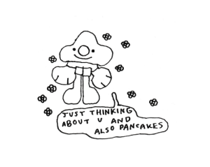 Thinking, Pancakes, and And: JvST THINKING  ABOUT V  AND  ALSO PANCAKES