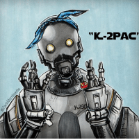 """More art for those lucky enough to be a swco! rogueone starwars celebration starwarscelebration k2so: """"K-2PAC' More art for those lucky enough to be a swco! rogueone starwars celebration starwarscelebration k2so"""