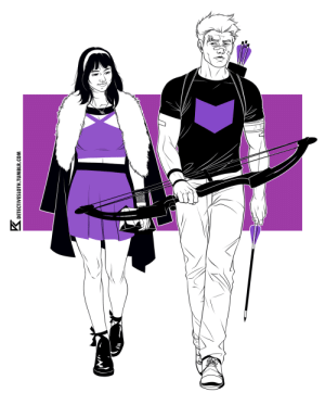 Run, Target, and Tumblr: K.  DETECTIVESLOTH TUMBLR.COM detectivesloth: Hawkeye and Hawkeye - the dream team. Bro, if you haven't yet, go read Fraction, Aja, and Hollingsworth's amazing run on this book. Bro.