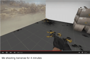 Shooting: K ll » 4) 2:48 4:05  Me shooting bananas for 4 minutes