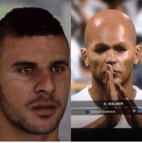 Kyle Walker in FIFA vs Kyle Walker in PES: K. WALKER  Select Camera Kyle Walker in FIFA vs Kyle Walker in PES
