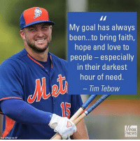 """On @foxandfriends, @TimTebow called for unity, adding, """"I think what we need right now is bringing people together in this country."""" TimTebow: ka DPaca via AP  My goal has always  been...to bring faith  hope and love to  people  especially  in their darkest  hour of need  Tim Tebow  FOX On @foxandfriends, @TimTebow called for unity, adding, """"I think what we need right now is bringing people together in this country."""" TimTebow"""