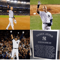 All Star, Mlb, and Derek Jeter: KA JETER  UNIFORM NUMBER RETIRED: 2017  JETER IS ONE OF THE MOST DECORATED  PLAYERS IN FRANCHISE HISTORY. RATING SET  FRANCHISE PLAYED, IN CAREER HITs. GAMES  eASES. AT BATS. DOUBLES. AND STOLEN  ME NAMED 1996 AL.. oF THE YEAR.  BOTH THE ALL STAR GAME AND  A WORLD SERIES MVP AWARDS  14-TIME OLD TIME 2ooo.  TME wo  CHAMPION  WINNER.  TIME SILVER SLUGGER WINNER AND TENURED CAPTAIN IN c LONGEST.  un HISTORY. Happy Derek Jeter Day!