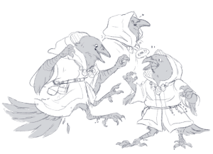Tumblr, Blog, and Http: KAA !! jaggillarattrita: A random Kenku! Because why not do some dd related art.