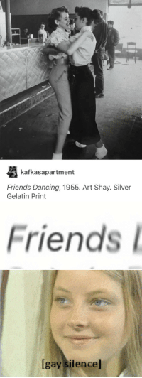 Dancing, Friends, and Silver: kafkasapartment  Friends Dancing, 1955. Art Shay. Silver  Gelatin Print   Friends   lgay silencel <h2>Mini Jodie Foster sabe.</h2>