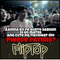 Simple lang eh pero laughtrip hahaha ^_^. Anong unang laban nga pala ang napanood mo na naging dahilan ng pagka adik mo hanggang ngayon sa FlipTop Battle League? -Bardagul  Target vs Dello Part 1 https://youtu.be/0eJm70U0TiE Part 2 https://youtu.be/1nu-djugtrM: KALIIMAKOPAGUSTO SABIHIn  DIKO mATIIS  ultn  An cuTenGTIGYAWAT mo Sn Simple lang eh pero laughtrip hahaha ^_^. Anong unang laban nga pala ang napanood mo na naging dahilan ng pagka adik mo hanggang ngayon sa FlipTop Battle League? -Bardagul  Target vs Dello Part 1 https://youtu.be/0eJm70U0TiE Part 2 https://youtu.be/1nu-djugtrM