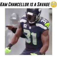 Memes, 🤖, and Chancellor: KAM CHANCELLOR IS A SAVAGE  o Comment your favorite team letter by letter without being interrupted! 🇺🇸🔥 - Follow @cleanrushes for more! @espnreplays