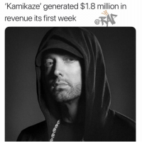 emi Kamikaze album generates $1.8m in just a week 👀 ➡️FOLLOW @bars ➡️DM FRIENDS: 'Kamikaze' generated $1.8 million in  revenue its first week  C@ emi Kamikaze album generates $1.8m in just a week 👀 ➡️FOLLOW @bars ➡️DM FRIENDS
