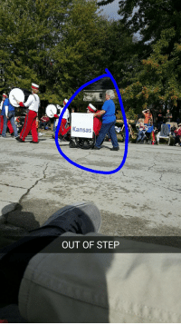 Kansas  OUT OF  STEP Marching band without the marching