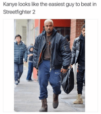 Memes, 🤖, and Streetfighter: Kanye looks like the easiest guy to beat in  Streetfighter 2 Very nice meme @chrisdelia