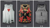 Jay, Jay Z, and Kanye: KANYE WEST 808s & HEARTBREAK  KANYE WEST&JAY Z WATCH THE THRONE  HRONE  ASAP ROXY LONG LME ASAP  LONG.LIVE.ASAP Designer @pvtso creates mashup of famous rap albums with NBA jerseys. 🔥🔥🔥