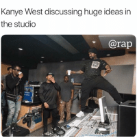kanyewest in the studio working on his album 👀 DM 5 FRIENDS FOR A SHOUTOUT!! Dm after done: Kanye West discussing huge ideas in  the studio  @rap  90 kanyewest in the studio working on his album 👀 DM 5 FRIENDS FOR A SHOUTOUT!! Dm after done
