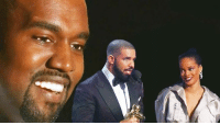 Kanye West interrupted Drake and Rihanna at the VMAs to share his new video.: Kanye West interrupted Drake and Rihanna at the VMAs to share his new video.