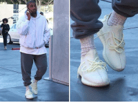 Black Friday, Friday, and Kanye: Kanye West kicked it on Black Friday in never-before-seen Yeezys. 🤔 Thoughts? kanyewest yeezy tmz