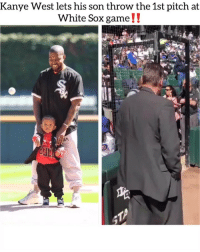 kanyewest over at the whitesox chicago stadium spending quality time with his son ⚾️ Follow @bars for more ➡️ DM 5 FRIENDS: Kanye West lets his son throw the 1st pitch at  White Sox game!.  SA kanyewest over at the whitesox chicago stadium spending quality time with his son ⚾️ Follow @bars for more ➡️ DM 5 FRIENDS