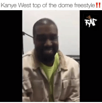 Friends, Kanye, and Memes: Kanye West top of the dome freestyle!! kanyewest went to damedash studio and laid down some freestyles‼️ what you think⁉️ Follow @bars for more ➡️ DM 5 FRIENDS