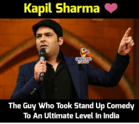 India, Comedy, and Indianpeoplefacebook: Kapil Sharma  AUGHING  The Guy Who Took Stand Up Comedy  To An Ultimate Level In India This is real Kapil sharma