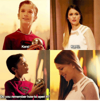 Memes, 🤖, and How: Kara!  Do you remember how to open it?  Kal El. Anyone watch Supergirl? Follow @marvelousfacts