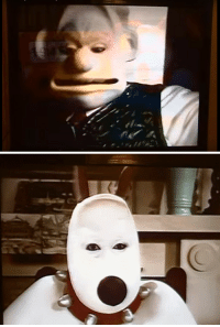 karaandintikam:  sexhaver:  pattern-53-enfield:  bundyspooks: Images from the live action version of lovable British claymation TV show, Wallace  Gromit. Broadcast in the late 1990s, the special received negative reactions from viewers due to the fact that it was unintentionally creepy. It was never shown again.  It looks like live-action spitting image. Horrifying.   i hate this so fucking much with every fiber of my being  This is like a real life version of those creepypastas where the protagonist watches a cartoon in the middle of the night and sees a disturbing episode that never gets broadcasted again: karaandintikam:  sexhaver:  pattern-53-enfield:  bundyspooks: Images from the live action version of lovable British claymation TV show, Wallace  Gromit. Broadcast in the late 1990s, the special received negative reactions from viewers due to the fact that it was unintentionally creepy. It was never shown again.  It looks like live-action spitting image. Horrifying.   i hate this so fucking much with every fiber of my being  This is like a real life version of those creepypastas where the protagonist watches a cartoon in the middle of the night and sees a disturbing episode that never gets broadcasted again