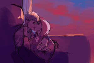 Cute, Target, and Tumblr: karasawr:Was sketching out colors and this was kinda cute