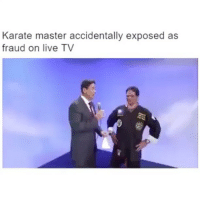 ⠀ 🌱That's So Awkward! 😂: Karate master accidentally exposed as  fraud on live TV ⠀ 🌱That's So Awkward! 😂