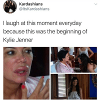 😂😂lol: Kardashians  @ltsKardashians  I laugh at this moment everyday  because this was the beginning of  Kylie Jenner  ut possible? 😂😂lol