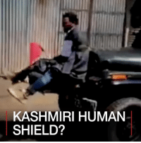 Memes, Social Media, and Control: KASHMIRI HUMAN  SHIELD? 18 APR: Graphic footage uploaded to social media purports to show abuse amid clashes over India's control of Kashmir, including a man tied to a car, allegedly to protect a convoy from stone-throwing youths. For more on Kashmir violence: bbc.in-kashmirviolence Kashmir India Pakistan Asia BBCShorts BBCNews @BBCNews