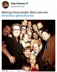 Love, Memes, and Best: Kate Flannery  @KateFlannery  Missing these people. Best cast ever.  #theOffice @theofficenbc I love how her profile pic is merideth on casual day QOTD. Favourite episode? Y'all do me a favour, if you see someone else post this identicle screenshot, tell them to credit us ❤