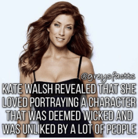 Addison Montgomery! 💃🏻🍷 + Fact: Kate Walsh revealed that she loved portraying a character that was deemed wicked and was unliked by a lot of people! 💃🏻🍷 + - greysanatomy greys greysfacts greysabc addisonmontgomery: KATE WALSH REVEALED THAT SHE  KAITE WALSH REVEALED THAT SHE  LOVED PORTRAYING A CHARACTER  THAT WAS DEEMED WICKED AND  AS UNLIKED BY A LOT OF PEOPLE Addison Montgomery! 💃🏻🍷 + Fact: Kate Walsh revealed that she loved portraying a character that was deemed wicked and was unliked by a lot of people! 💃🏻🍷 + - greysanatomy greys greysfacts greysabc addisonmontgomery