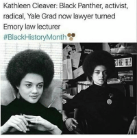 Still important: Kathleen Cleaver: Black Panther, activist,  radical, Yale Grad now lawyer turned  Emory law lecturer  #Black HistoryMonth Still important