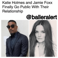 "Katie Holmes and Jamie Foxx Finally Go Public With Their Relationship - blogged by @MsJennyb ⠀⠀⠀⠀⠀⠀⠀ KatieHolmes and JamieFoxx have officially confirmed their relationship after years of hiding their love in public. ⠀⠀⠀⠀⠀⠀⠀ ⠀⠀⠀⠀⠀⠀⠀ According to Daily Mail, the two were believed to have been dating since 2013, one year after Holmes divorced actor Tom Cruise. Sources say the divorce settlement had a clause that prevented Holmes from dating publicly for at least five years. Now, five years later, Holmes has finally gone public with her boo, after previously refusing to confirm the claims. ⠀⠀⠀⠀⠀⠀⠀ The couple sparked the rumors back in 2013 after they were spotted together at a charity event in the Hamptons. However, upon the release of the pictures, Foxx attempted to diffuse the rumors, saying they were ""one hundred percent not true."" Although the two were rarely spotted together, the rumors persisted. ⠀⠀⠀⠀⠀⠀⠀ ⠀⠀⠀⠀⠀⠀⠀ In 2015, the two were photographed holding hands, but the rumors were shut down once again. But in 2016, things began to heat up after Claudia Jordan confirmed the couple's relationship. Although, the former Real Housewives of Atlanta star took back her comments, fans were not buying it. ⠀⠀⠀⠀⠀⠀⠀ ⠀⠀⠀⠀⠀⠀⠀ Following the incident, the two were spotted at the same events, on several occasions. In May, the two were photographed boarding the same private jet. Finally all of the hiding and sneaking around has come to an end, as the conditions of her divorce settlement reportedly expired this past June. ⠀⠀⠀⠀⠀⠀⠀ ⠀⠀⠀⠀⠀⠀⠀ On Monday, Foxx and Holmes were spotted at the beach on Monday, enjoying each other's company. The two held hands as they walked along the beach in Malibu.: Katie Holmes and Jamie Foxx  Finally Go Public With Their  Relationship  @balleralert Katie Holmes and Jamie Foxx Finally Go Public With Their Relationship - blogged by @MsJennyb ⠀⠀⠀⠀⠀⠀⠀ KatieHolmes and JamieFoxx have officially confirmed their relationship after years of hiding their love in public. ⠀⠀⠀⠀⠀⠀⠀ ⠀⠀⠀⠀⠀⠀⠀ According to Daily Mail, the two were believed to have been dating since 2013, one year after Holmes divorced actor Tom Cruise. Sources say the divorce settlement had a clause that prevented Holmes from dating publicly for at least five years. Now, five years later, Holmes has finally gone public with her boo, after previously refusing to confirm the claims. ⠀⠀⠀⠀⠀⠀⠀ The couple sparked the rumors back in 2013 after they were spotted together at a charity event in the Hamptons. However, upon the release of the pictures, Foxx attempted to diffuse the rumors, saying they were ""one hundred percent not true."" Although the two were rarely spotted together, the rumors persisted. ⠀⠀⠀⠀⠀⠀⠀ ⠀⠀⠀⠀⠀⠀⠀ In 2015, the two were photographed holding hands, but the rumors were shut down once again. But in 2016, things began to heat up after Claudia Jordan confirmed the couple's relationship. Although, the former Real Housewives of Atlanta star took back her comments, fans were not buying it. ⠀⠀⠀⠀⠀⠀⠀ ⠀⠀⠀⠀⠀⠀⠀ Following the incident, the two were spotted at the same events, on several occasions. In May, the two were photographed boarding the same private jet. Finally all of the hiding and sneaking around has come to an end, as the conditions of her divorce settlement reportedly expired this past June. ⠀⠀⠀⠀⠀⠀⠀ ⠀⠀⠀⠀⠀⠀⠀ On Monday, Foxx and Holmes were spotted at the beach on Monday, enjoying each other's company. The two held hands as they walked along the beach in Malibu."