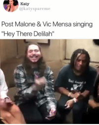"""Sommer ray just sitting there not appreciating Post and Vic 😤 • Follow @savagememesss for more posts daily: Katy  @katyspareme  Post Malone & Vic Mensa singing  """"Hey There Delilah"""" Sommer ray just sitting there not appreciating Post and Vic 😤 • Follow @savagememesss for more posts daily"""