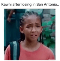 That blow out 😂: Kawhi after losing in San Antonio..  NBAMEME That blow out 😂