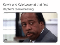 Never smiling 😂 nba nbamemes spurs raptors kawhi Via ‪@iamterrace: Kawhi and Kyle Lowry at that first  Raptor's team meeting  GIF Never smiling 😂 nba nbamemes spurs raptors kawhi Via ‪@iamterrace
