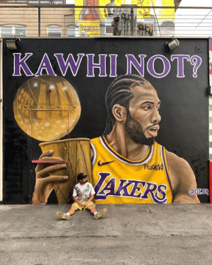 Lakers fans doing their part in recruiting Kawhi 👀   (via gz.jr/IG): KAWHI NOT?  PizZAgA  AKERS  @GZIR Lakers fans doing their part in recruiting Kawhi 👀   (via gz.jr/IG)