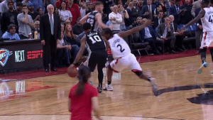 Ball, For, and Win: KAWHI STEALS THE BALL FROM DEMAR FOR THE WIN.