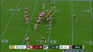 .@Packers QB Manny Wilkins out here hurdling dudes 😱  #KCvsGB @MannyWilkins5 https://t.co/OyPmfCP3zz: KC 20C  CONCORDIA  UNIVERSITY  GB 20 4TH 7:47  2ND & 6  20 .@Packers QB Manny Wilkins out here hurdling dudes 😱  #KCvsGB @MannyWilkins5 https://t.co/OyPmfCP3zz