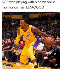 Savage, Sports, and Man: KCP was playing with a damn ankle  monitor on man LMAOOOO  TAKERS  @SportsJokes Mans a savage