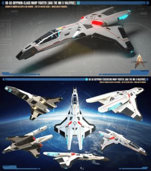 Community, Easter, and Life: KD-58 GRYPHON-CLASS WARP FIGHTER [AKA THE MK 11 VALKYRIE] I  DESIGN BY ANDREW GILLESPIE& GK DESIGNS EDIT BY AUCTOR LUCAN MODELLING BY OMARDEX  THEGY   ■ KD-58 GRYPHON FEDERATION WARP FIGHTER [AKA THE MKII VALKYR旧  DESIGN BY ANDREW GILLESPIE & EK DESIGNS | EDIT BY AUCTOR LUCAN I MODELLING BY OMARDEX auctorlucan:  Stock | KD-56 Gryphon-class Warp Fighter by Auctor-Lucan  These are the warp fighters the pilots on the U.S.S. Resolve and the U.S.S. Harbinger use in Star Trek: Theurgy. UPDATE: Direct link to 3D model download added below. Don't forget to leave due credit if used.The first design of the Gryphon-class Warp Fighters was made by Andrew Gillespie (KadenDark) and GK Designs, and has more or less become canon to the Star Trek community at this point. It has been modelled and featured in a couple of old Star Trek games, chosen as fighters in many simms, and I want to commemorate this awesome fighter with a new rendition of it. I think I speak for a big part of the Star Trek community when I thank KadenDark and GK Designs for bringing this fighter to life, for it has inspired countless non-canon stories and the creativity of many artists. Thank you for this old achievement of yours, which still lives on to this day.This version above was made by me and the 3D model was a commissioning by Omar Tavera (Omardex) (http://omardex.deviantart.com/). The background is a stock image from Dreamstime #57965166, edited in Photoshop CS5. Edits, texts and add-ons to the 3D render of the ships were made by yours truly. The new model can be seen in all its detail and glory below (and good luck if you want to look for the hidden Easter Egg while you are at it….): SKETCHFAB GRYPHON MODEL DISPLAYI would like to make this model available to all DeviantArt artists and the whole Star Trek community out there, anyone who want to use it in their art or their stories, and the only thing I ask is that you give due credit to KadenDark  GK Designs for the origina